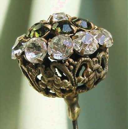 Antique Victorian Jeweled Hatpin