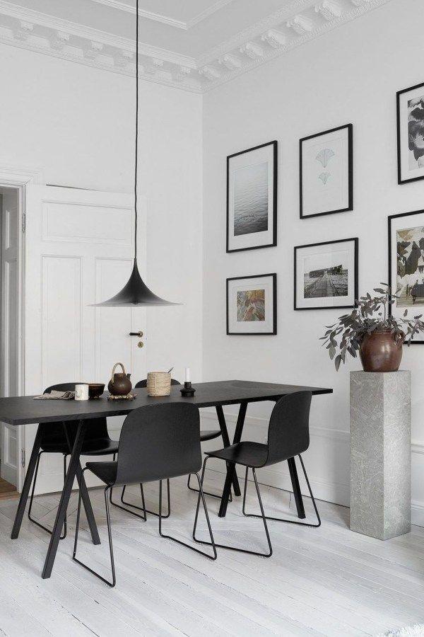 30 Gorgeous Scandinavian Dining Room Design Ideas Dining Room 30 Gorgeous Scandinavian Dining Room Design Ideas Minimalist Dining Room Black White