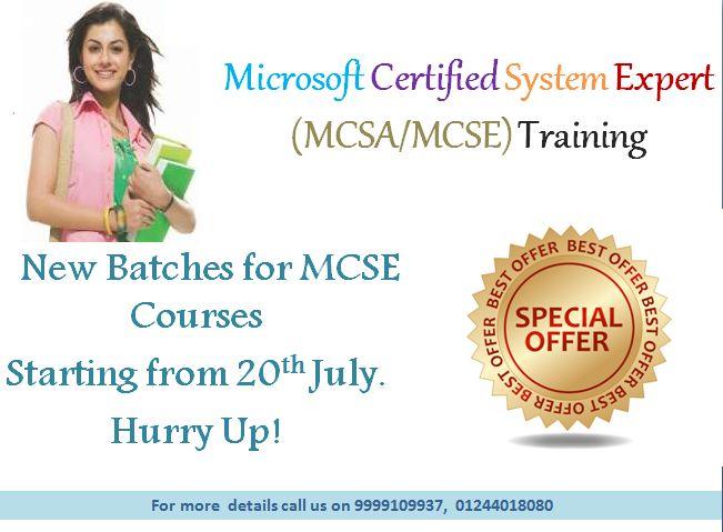 MCSA/MCSE Training Institute Delhi Gurgaon India