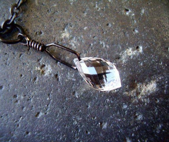 Genuine Natural Quartz Rock Crystal Micro Faceted Briolette