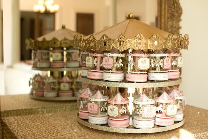 Carousel Favors atop a Carousel from a Pink Carousel Birthday Party via Kara's Party Ideas! KarasPartyIdeas.com (39)