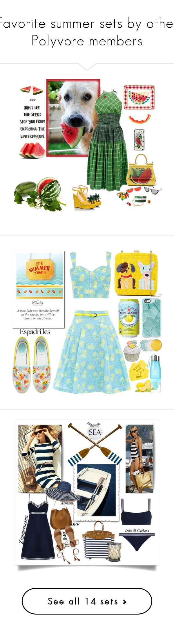 """""""Favorite summer sets by other Polyvore members"""" by sunnydays4everkh ❤ liked on Polyvore featuring Kate Spade, Alice + Olivia, Armitage Avenue, Draper James, Betsey Johnson, Les Néréides, Dolce&Gabbana, cuteboxforladies, Oasis and Serpui"""