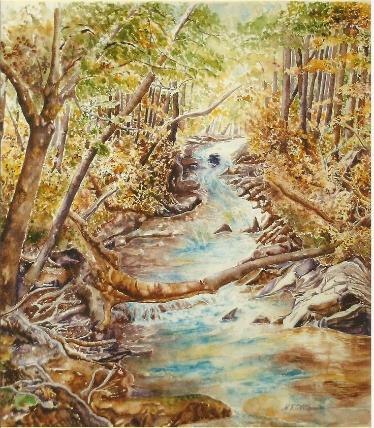 acquerello mormorii  nel bosco