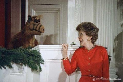 Alf с Нэнси Рейган, 1987 год, США