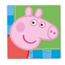 Party Napkins - 16 Peppa Pig