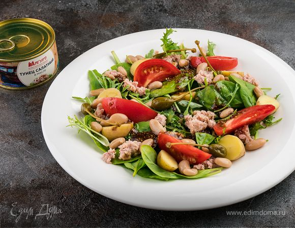 Салат с тунцом и белой фасолью | Кулинарный сайт Юлии Высоцкой: рецепты с фото
