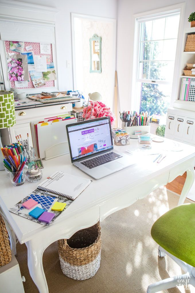 beautiful home office from In My Own Style #bloggerstylinhometours