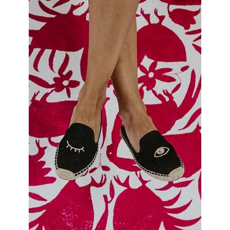 Soludos 'Wink Embroidered Smoking Slipper Sand' Shoes | Shop Splash    www.shopsplash.com