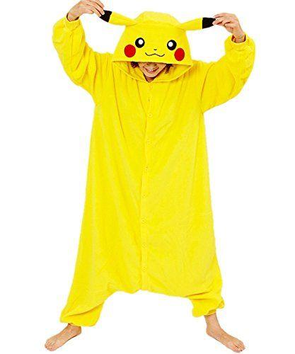 Zorabridal Pokemon Pikachu Cosplay Unisex Adult Costume Onesies Pajamas Small
