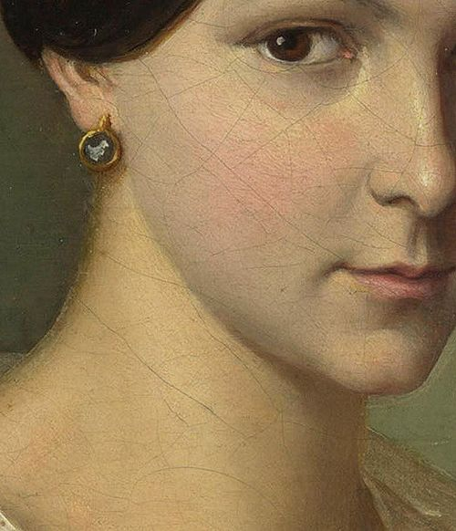 Portrait of a Woman (detail), unknown French artist, ca. 1830