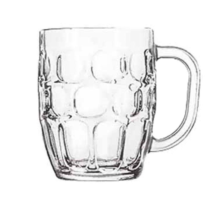 Libbey 5355 - Dimple Stein Beer Mug, 19-1/4 oz. | Commercial Restaurant Equipment