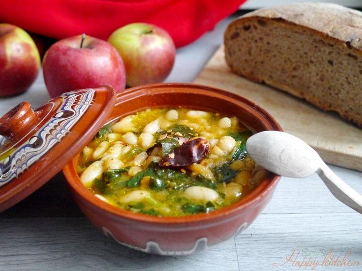 Боб на гъсто със спанак - Ricetta e preparazione: cucina salutare e vegetariana - Tony's Happy Kitchen