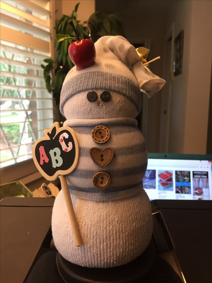 Sock snowman, teachers gift, merry Christmas, peppermint scented