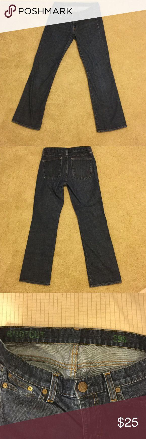 J Crew Bootcut Jeans Perfect condition J Crew bootcut size 29S jeans 98% cotton 2% elastane. Th we aeis great jeans in perfect condition coloring is a nice dark blue J. Crew Jeans Boot Cut