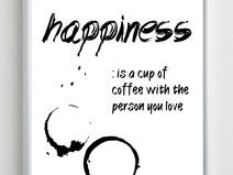 Plakat - HAPPINESS-COFFEE - 50x70,7 cm - B2