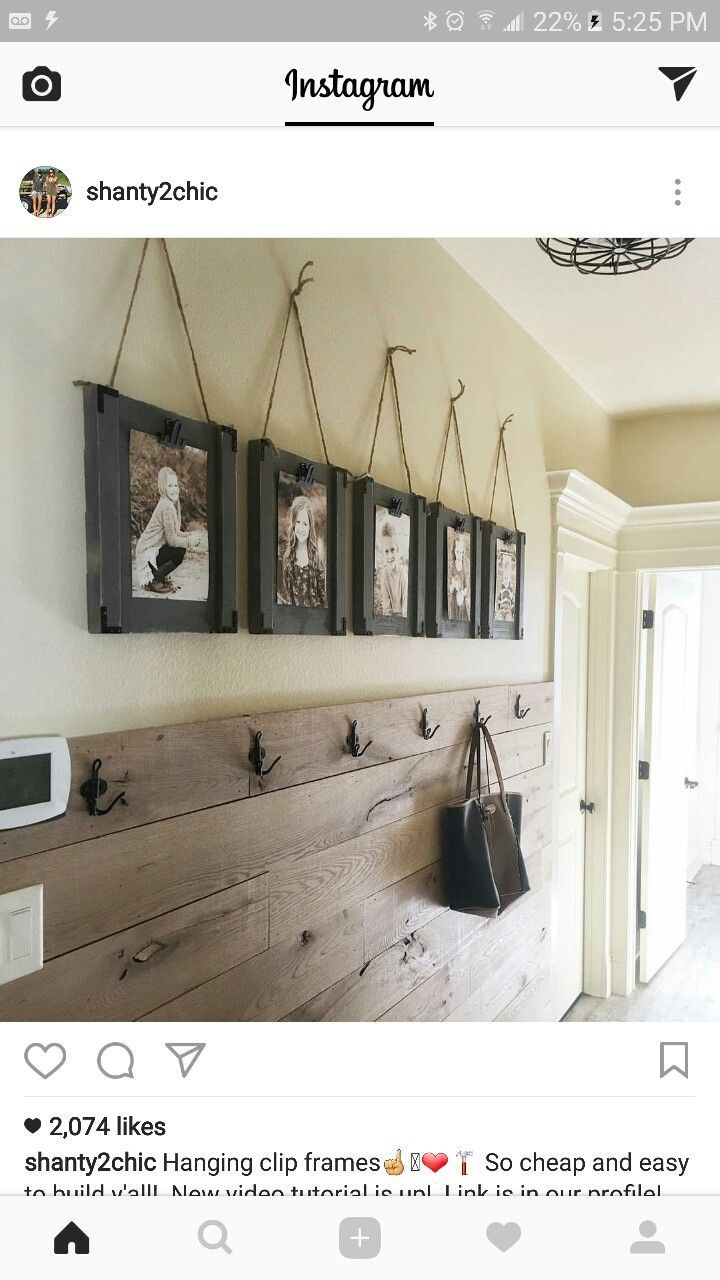 Love This Hall/entry Wall Idea!
