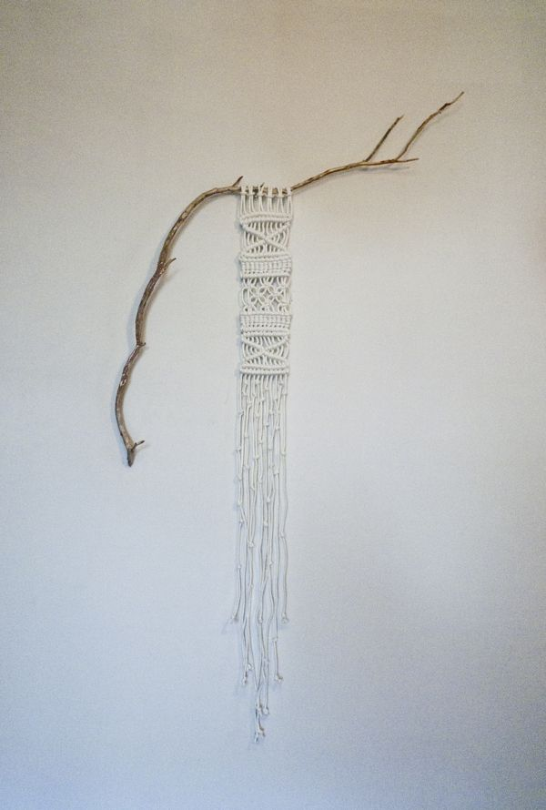 found branch macramé by Sally England, via Behance