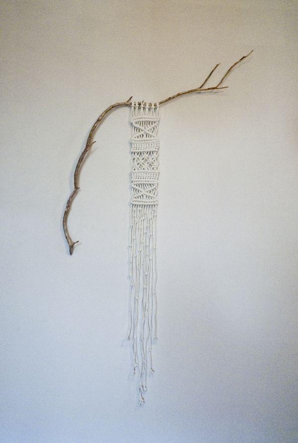 found branch macramé by Sally England, via Behance