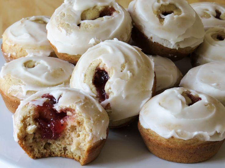 GLUTEN FREE JAM FILLED DONUT MUFFINS #glutenfree #muffins