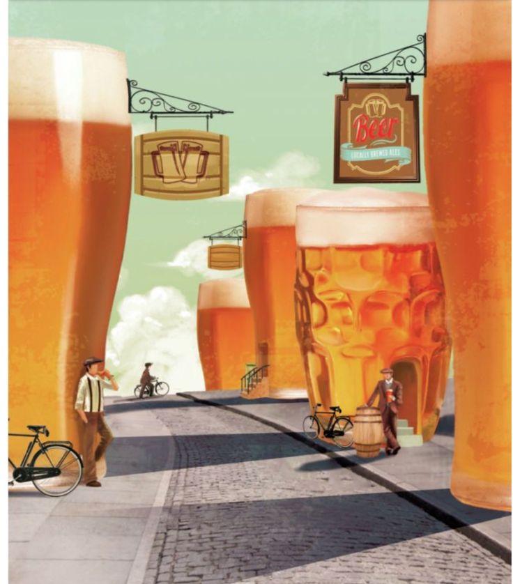 Открытки, по пиву открытка