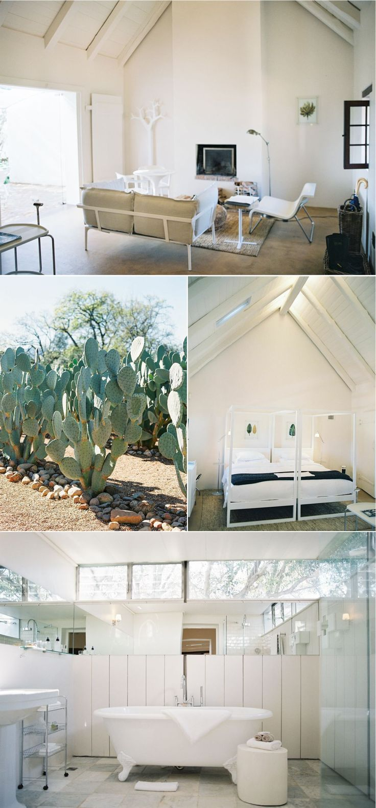 You and your guests will slumber in white modern airy spaces accented by Cape Dutch Architecture on this vineyard farm. Photo: Vicki Grafton http://www.venuereport.com/blog/a-south-african-farm-fresh-garden-getaway/