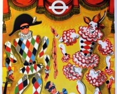 1964 London Transport Puppets Poster