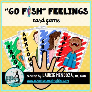 Go Fish feelings game. Colors aligned with the Zones of Regulation.
