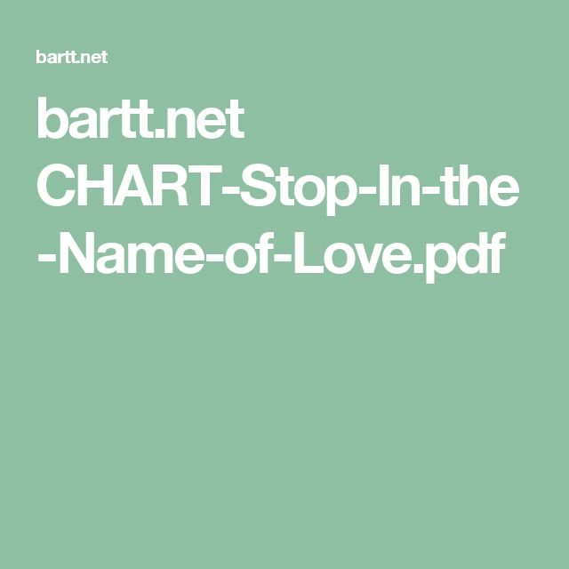 bartt.net CHART-Stop-In-the-Name-of-Love.pdf