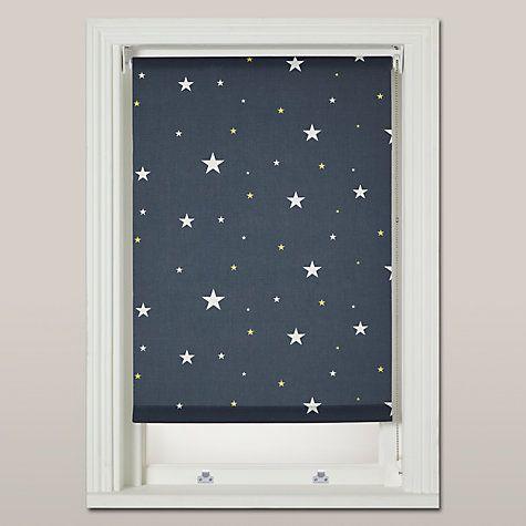 Buy John Lewis Starry Night Blackout Roller Blind, Navy Online **Boys bedrooms? HM**at johnlewis.com