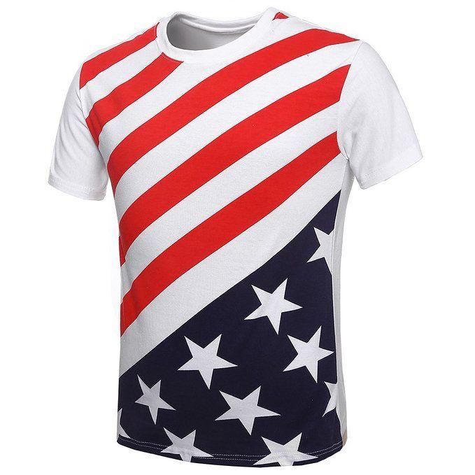MapleClan Men's American Flag Star