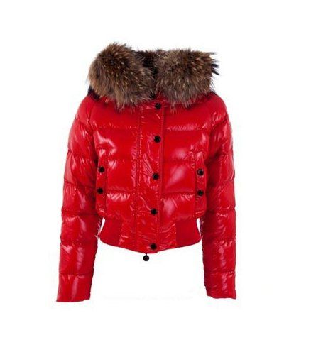 Moncler outlet - Moncler Alpin Alpes Damen Daunenjacken Rot Mode