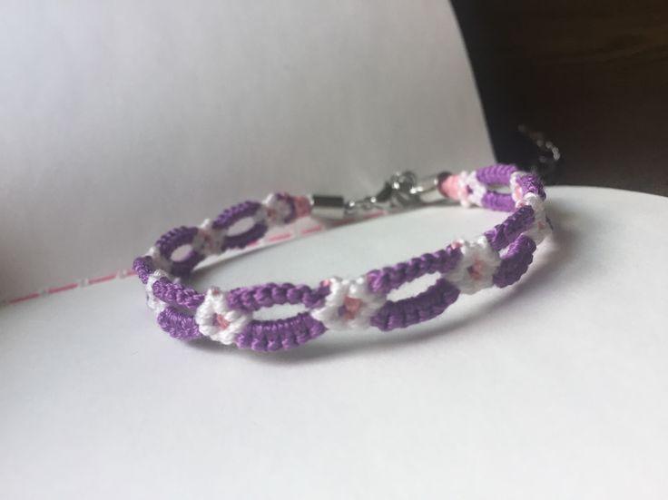flower, purple, white