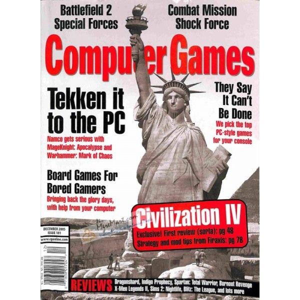 (*** http://BubbleCraze.org - New Android/iPhone game is taking the world by storm! ***)  Computer Games Magazine, December 2005 | $9.63