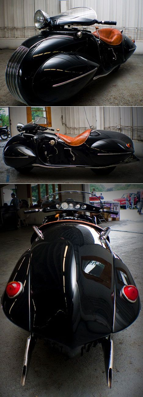 Streamlined style motorcycle.