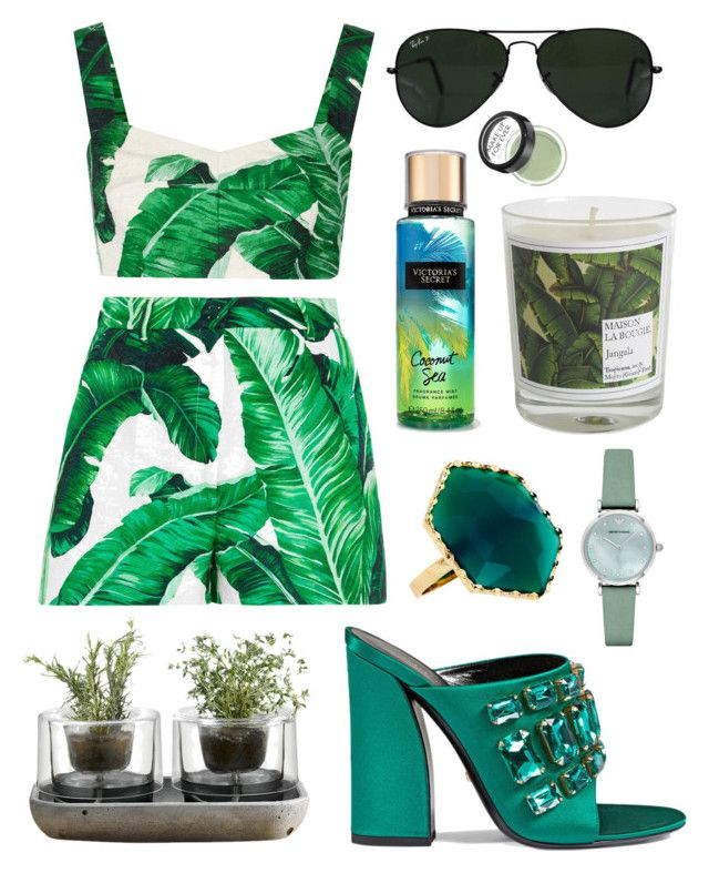 """GREEN"" by canara-imin on Polyvore featuring Dolce&Gabbana, Ray-Ban, Lana, Nude, Maison La Bougie, Gucci, Emporio Armani and MAKE UP FOR EVER"
