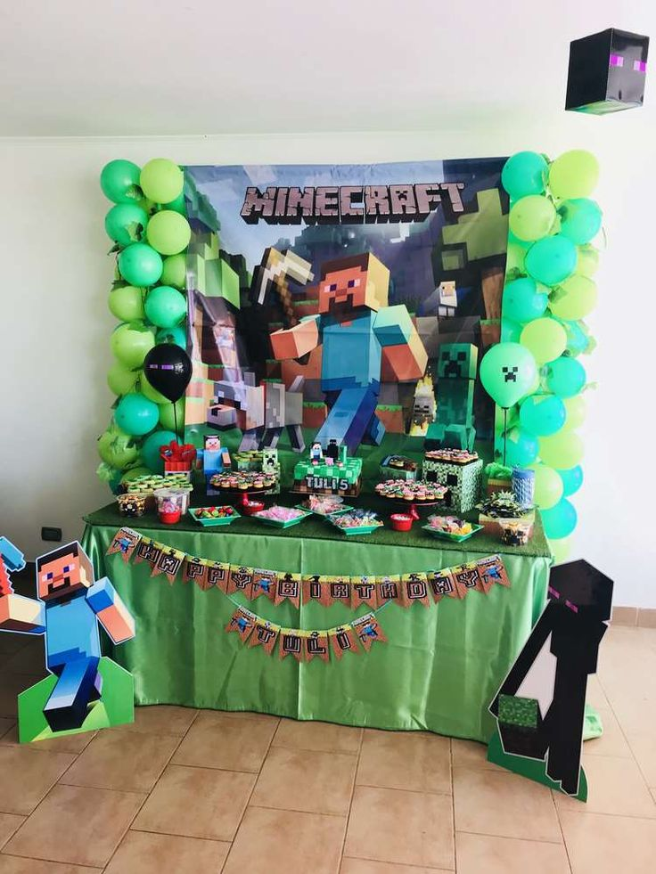 Minecraft birthday party ideas minecraft etiquetas for Decoracion e ideas
