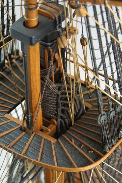 HMS Victory, looks to me to be a model: