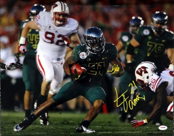 LaMichael James Autographed 16x20 Photo Oregon Ducks PSA/DNA