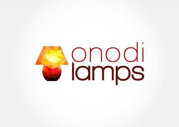 Geometric lamp illustration for colorful logo.