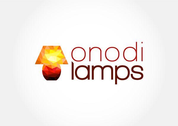 Geometric lamp illustration for colorful logo.