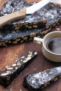 Panforte is a delicious Italian Christmas Cake, rich with chocolate, toasted nuts and candied fruit. A holiday favorite!