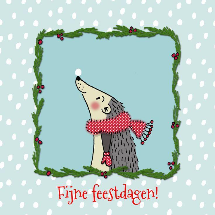 Kerstkaarten - kerstegel, verkrijgbaar bij #kaartje2go voor €1,89