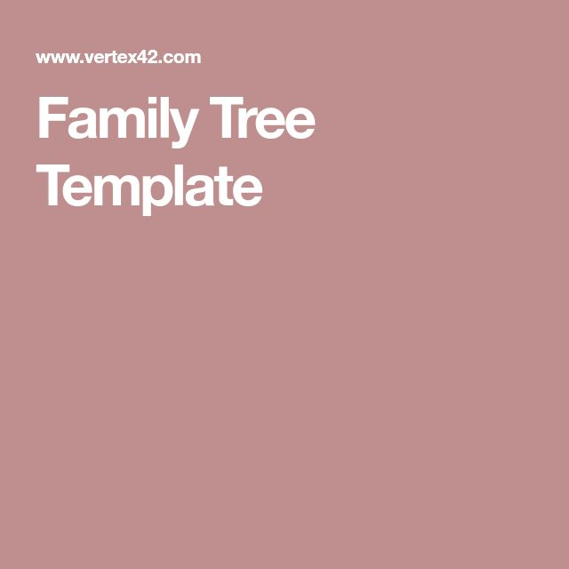 The  Best Family Tree Template Word Ideas On   Kids