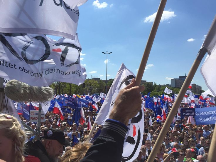 One of the biggest KOD's anti-government demonstrations took place on May 7, 2016 2016 in Warsaw. Picture used with permission.