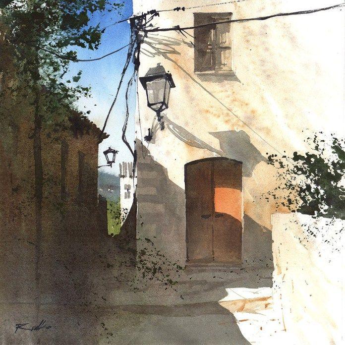 Afbeeldingsresultaat Voor Rafal Rudko Paisaje Rural Ilustracion Acuarela Pinturas