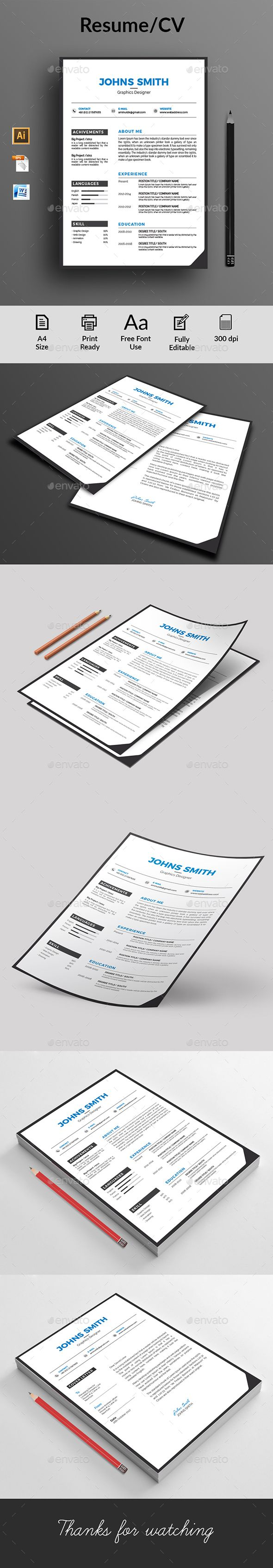 Clean Resume Download%0A  simple  minimal  Resume  CV  template  design  download  https