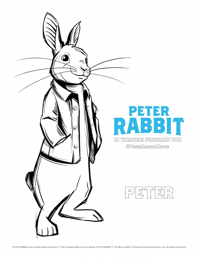 Peter Rabbit Movie Coloring Pages Peter Rabbit Movie Rabbit Colors Cartoon Coloring Pages