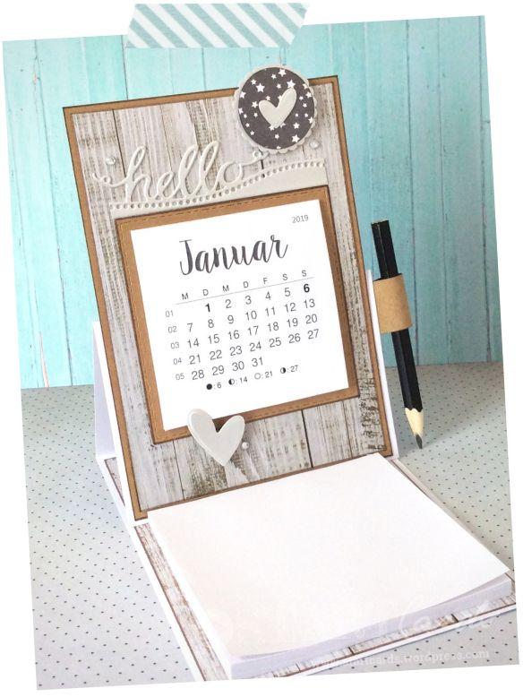 Tischkalender 2019 Mit Notizblock Tischkalender Kalender