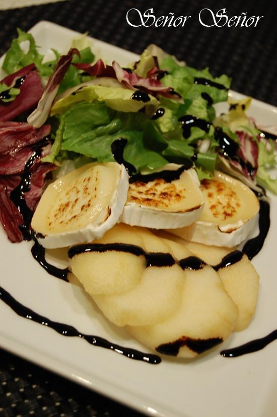 Recetas del Señor Señor: Ensalada de pera y queso de cabra