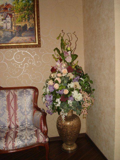 Фото 4103293 в коллекции Интерьерные композиции из искусственных цветов